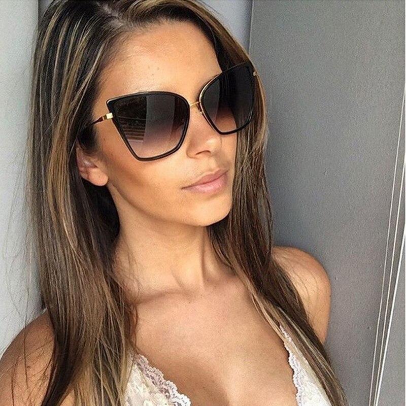 2018 Donna Donne Frame Eye Occhiali Specchio Di Per Metal Oversize Cateye Del As Da as Picture Picture Cat Marca Le Sole Shades New Progettista Sunglass Luxury IvxpwTqvP
