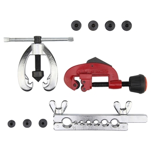 Image 2 - (Drop shipping) Copper Brake Fuel Pipe Repair Double Flaring Dies Tool Set Clamp Kit Tube Cutter For Cutting And Flaring Copper
