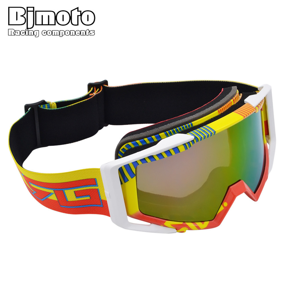BJMOTO Oculaire Eye Protect Motorcycle Glasses Colorful Motocross Helmet Goggles for Off-Road ATV Quad SUV Dirt Bike
