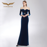 CONIEFOX 32319 A word should mermaid Elegant evening party dress prom dresses mother of the bride dresses vestido de festa longo