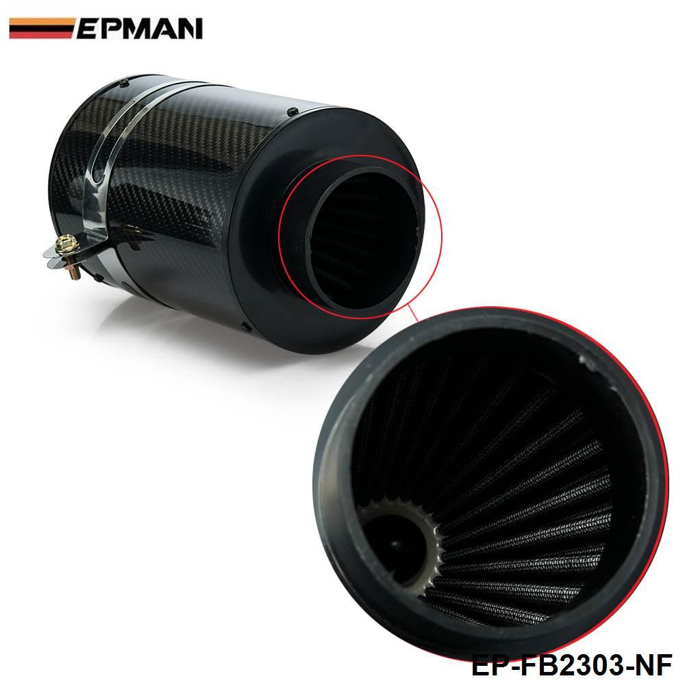 Универсальный индукционный комплект холодной подачи и воздухозаборник из углеродного волокна без вентилятора для BMW MINI Cooper S R53 EP-FB2303-NF