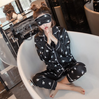 Yomrzl A547 New Arrival Spring And Autumn Women S Pajama Set Long Sleeve Sleep Set Black