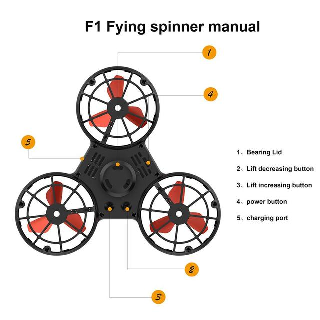 LeadingStar Mini Fidget Spinner Hand Flying Spinning Top Autism Anxiety Stress Release Toy Great Funny Gift Toys For Children 3
