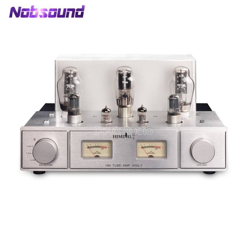 2018 Lastest Nobsound Hi-end Stereo PSVANE 300B Vacuum Valve Tube Amplifier HiFi Push-pull Integrated Power Amp With Bluetooth 2018 latest nobsound hi end 6n8p push pull psvane kt88 valve tube amplifier hifi stereo class a large power 45w 2 amplifier