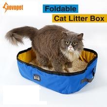 VOVOPET Foldable Pet Cat Bedpans Oxford Portable Waterproof kitten Litter Box Outdoor Travel Toilet Training Pets Cats Pa