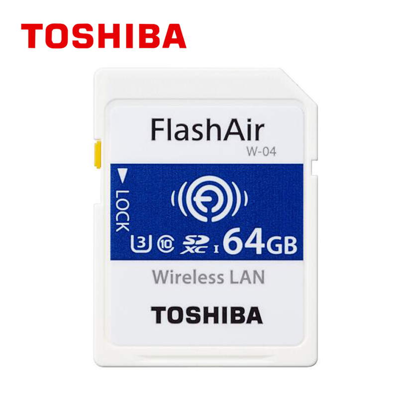Nouvel an qualité FlashAir 64 GB SDHC W-04 sans fil 64 GB SDXC WiFi carte SD UHS-I classe 10 U3 carte mémoire Flash pour appareil photo numérique