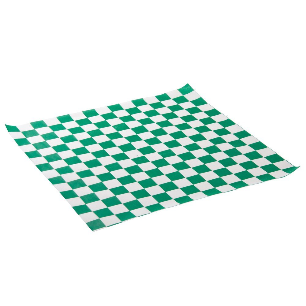 1000 pcs Greaseproof Black and white checkered Wax Paper Baking Oil ...