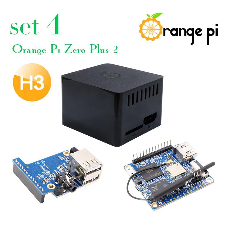 Prix pour Orange Pi Zéro Plus 2 H3 Ensemble 4: Orange Pi Zéro Plus 2 H3 + Cas De Protection Noir + développement Bord au-delà Framboise