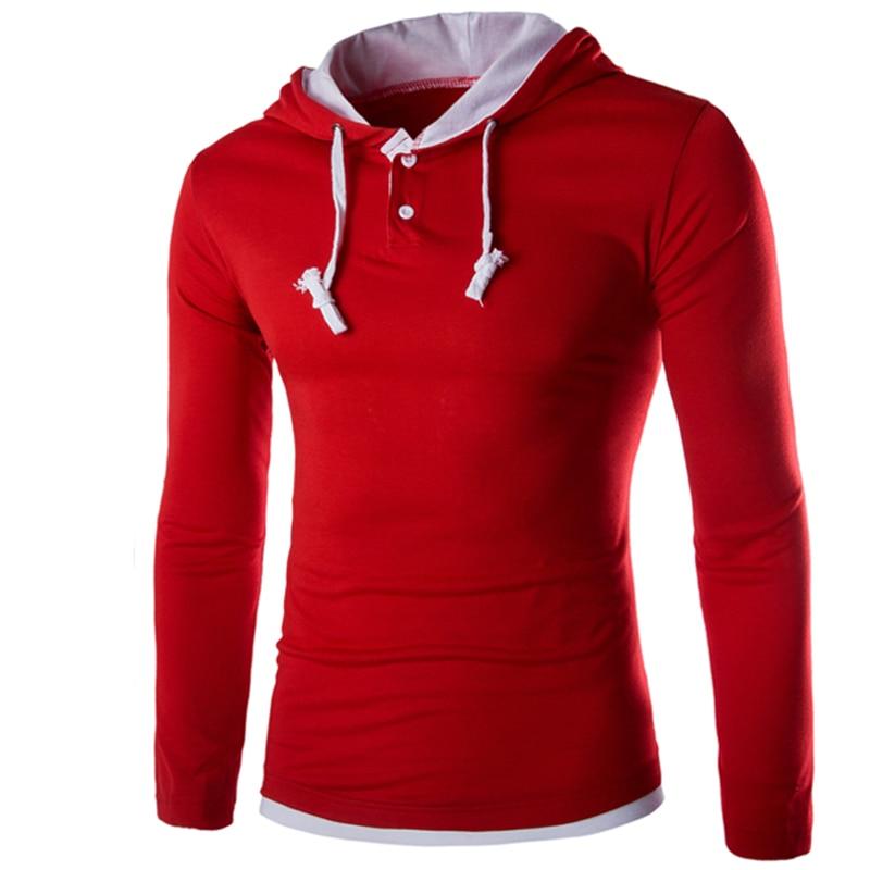 HTB1NbDKLXXXXXaQXXXXq6xXFXXXV - T Shirt Men Brand 2018 Fashion Men'S Hooded Stitching Design Tops & Tees T Shirt Men Long Sleeve Slim Male Tops  XXXL OOISH