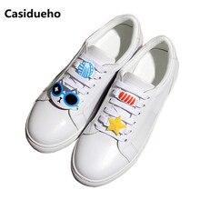 Runway Pure White Shoes Cadarço Tenis Feminino Tênis de Couro Macio Out-doors Lazer Zapatos Mujer Sapatos de Senhora Oxfords