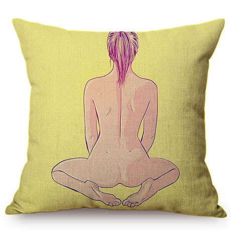 Nordic Sexy Woman Vintage Style Cotton Linen Sofa Decorative Pillow Case Fashion Girl Charm Charming Love Chair Cushion Cover M079-10