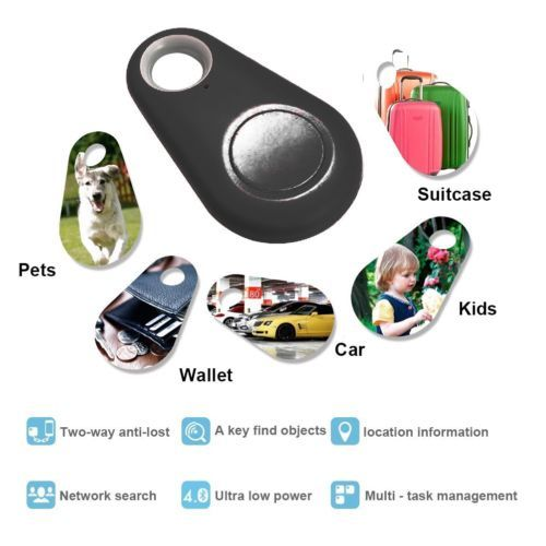 4 Colors Anti-Theft Bluetooth Locator for Kids Pet Dog Car Motorcycle Tracker Wireless Bluetooth 4.0 Mini Tracker