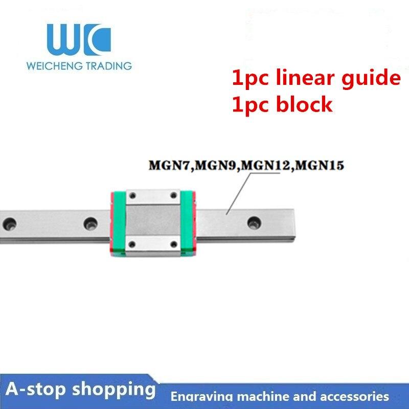 L300mm 9mm Miniature Linear Motion Guide Rail/&Block MGN9C Carriage fr 3D Printer