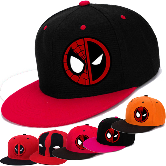 Anime Comic Marvel Summer Style Hip Hop Baseball Cap Deadpool Hat Snapback For Men Women