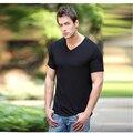 Hombres de fibra de bambú camiseta de tela suave y cómodo de calidad de exportación hombres t-shirt cozy variedad de colores y tamaños