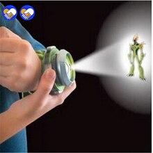 Игрушка мечты Бен 10 стиль Япония проектор часы бан дай подлинные игрушки для детей дети слайд шоу ремешок для часов падение