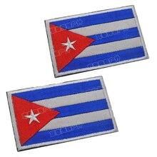 8*5cm CUBA embroidery flag kids patch spartak iron on rectangle applique