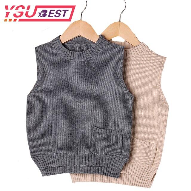 63c9e0ba0f4c 2019 Spring Autumn Boys Sweaters Vest 100% Cotton Baby Cardigan ...