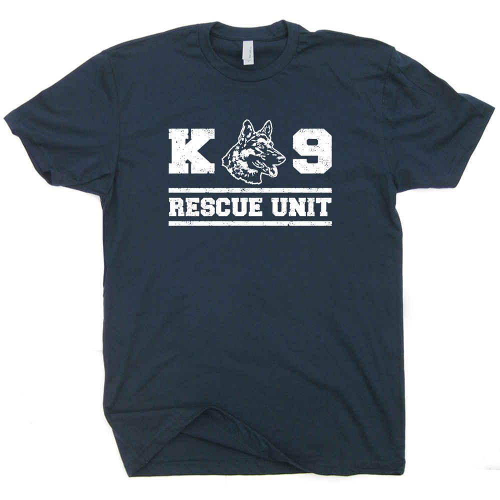 K9救助ユニットtシャツセキュリティジャーマンシェパード消防士軍事2017新着