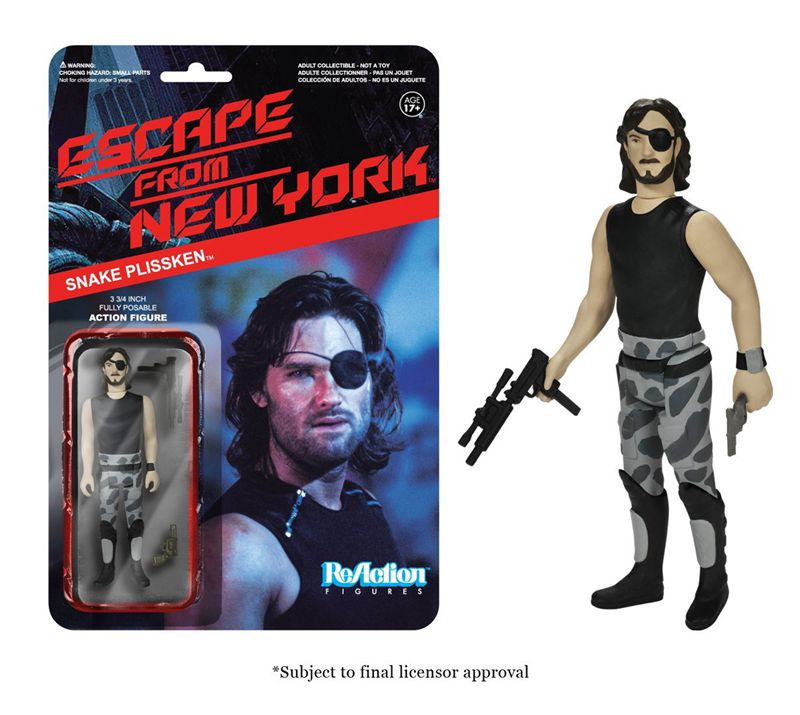 Funko ReAction Figure Escape from New York - Snake Plissken Vinyl Action Figure Collectible Model Toy with Original Box(China)