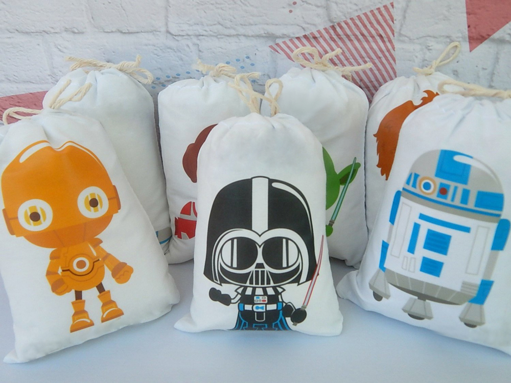 Wars Theme Birthday Favor Bags Star Candy Bags Gift Bags Kids Birthday Party Supplies Decoration Event Party Supplies