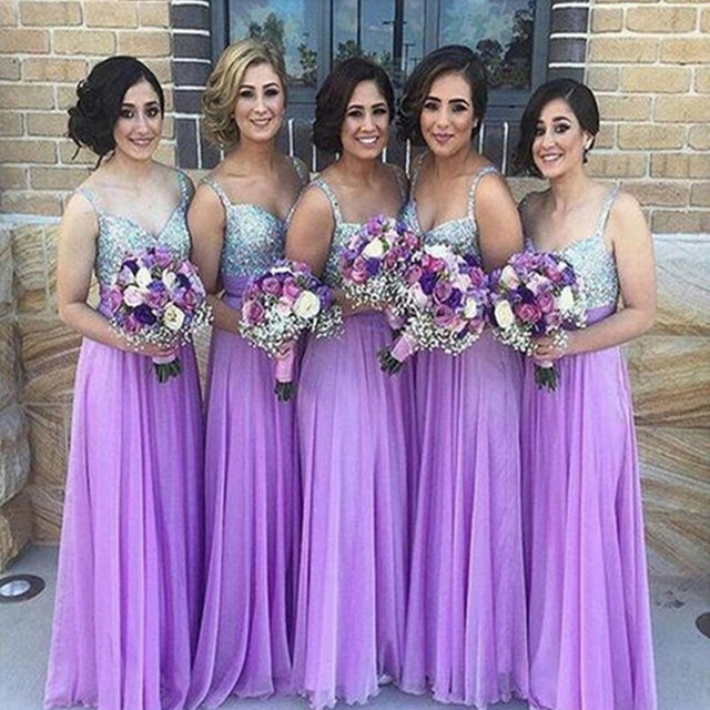 Vestidos de fiesta color lila
