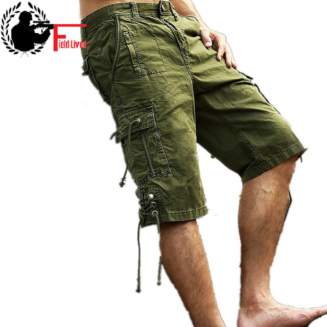 234ffe519e9622 2016 Brand Men's Casual Camouflage Loose Long Cargo Shorts Men Large big  Size Multi-pocket Military Short Pants Overalls Male