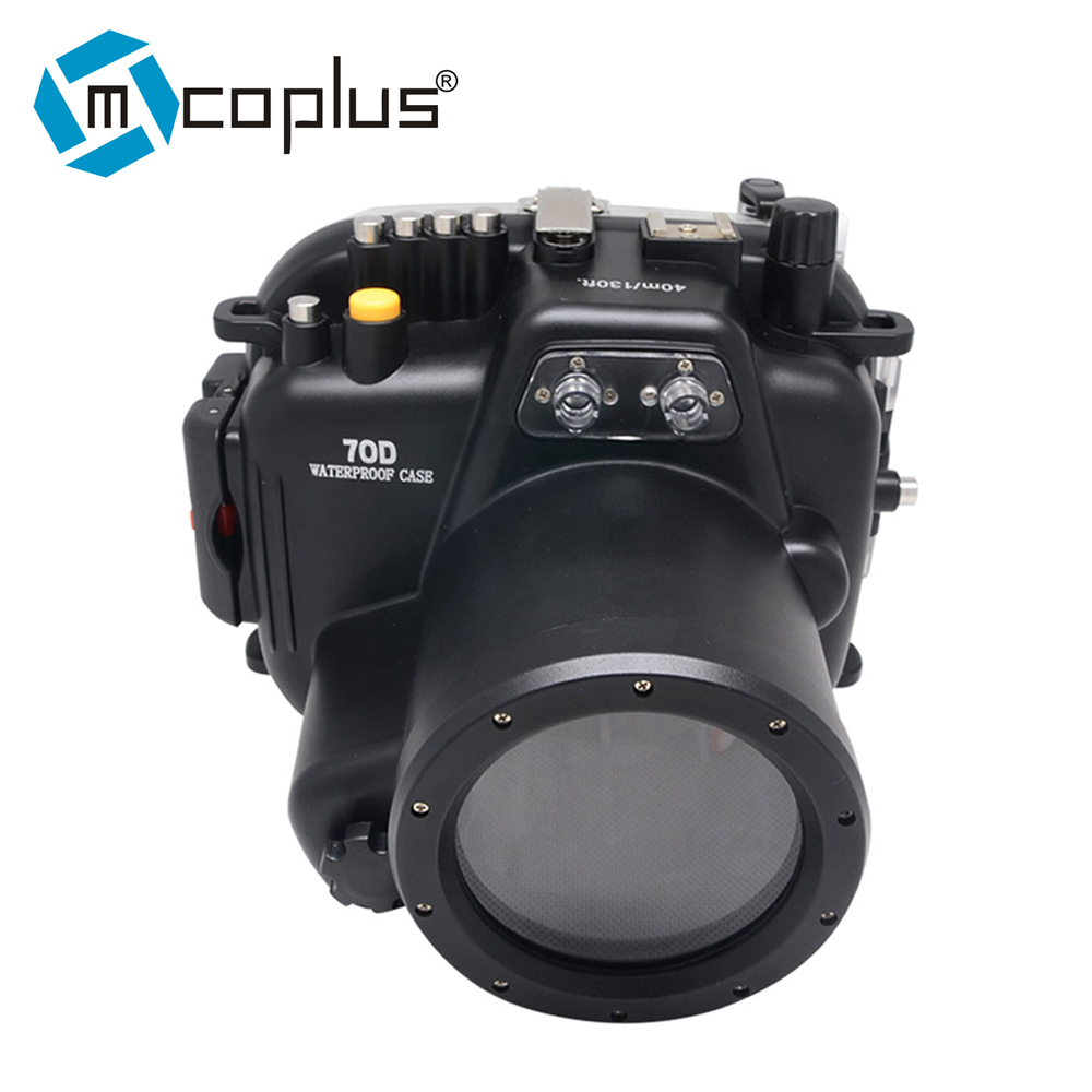 Mcoplus 40M Waterproof Underwater Camera Housing Case for Canon EOS 70D 18-135mm Lens 40m 130ft waterproof underwater camera housing diving case cover for sony dsc rx100 iv rx100 m4 rx100 mark4 dhl free shipping