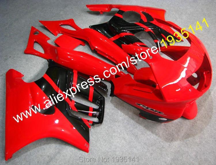 Горячие продаж,для Honda CBR600 97 98 F3 в части ЦБ РФ 600 F3 1997 1998 CBR600F3 красный и черный мотоцикл обтекатель комплекты (литье под давлением)
