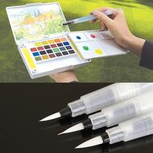 Многоразовая 1 шт. 12 см водяная кисть, чернильная ручка для воды каллиграфия красками Рисование Живопись иллюстрация ручка канцелярские принадлежности