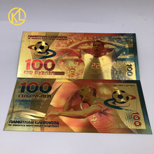 Горячие RU004 1 шт. Россия 100 рубля футбол сувенир пластиковые билетные банкноты для спортивных болельщиков коллекция и подарки