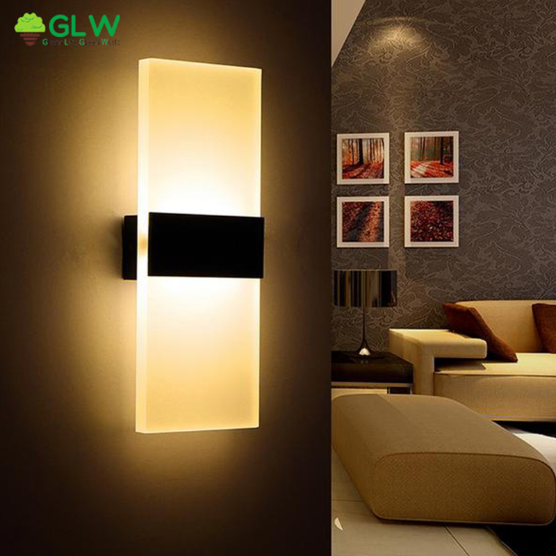 GLW Sconce 6W Led Wall Lamp 3W 8W Bedroom Led Bedside Stairwell Aisle Light Modern Balcony Lamp Corridor Wall Sconce Lamparas wall light 12w led wall lamp bedroom bedside living room hallway stairwell balcony aisle balcony lighting ac85 265v hz64