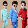 Free Shipping High Quatity Classic Formal Dress Kids Jackets Boys Wedding Suit Children Outerwear ClothingRed Blue
