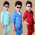 Free shipping High-quatity classic formal dress kids jackets boys wedding suit children outerwear clothingRed Blue Optional