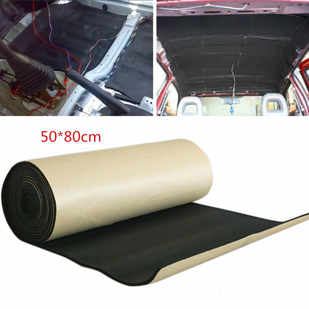 5mm Car Boots Body Panel Sound proof Dampening Pad Mat 50*80cm Anti Noise Heat Sound proof Pad Protector-in Sound & Heat Insulation Cotton from Automobiles & Motorcycles