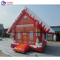 Outdoor commercial trampoline mini bounce castle inflatable christmas bouncy house for kids party game