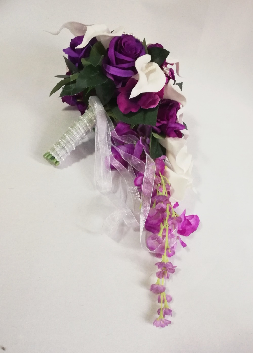 Букет, свадебные букеты водопад капля муфта
