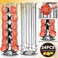 Envío Libre 24 de Café Pod Holder Rotación Rotatorio de Rack Torre Soporte de Cápsula De Dolce gusto
