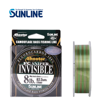 Camouflage-Bass Fishing-Line FLUOROCARBON INVISIBLE SNIPER 75M Made-In-Japan