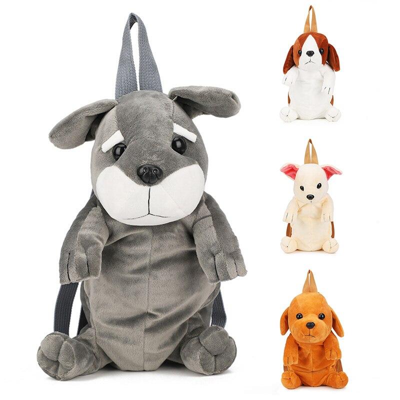Baby Plush Backpack 1-3-6 Yrs Kids 3D Cartoon Cute Lovely Puppy Dog Animal Doll Shoulder Bag Children Kindergarten Bag