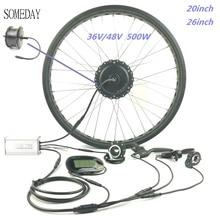 Водонепроницаемый 36V 48V 500W электровелосипед с толстыми покрышками Снежный велосипед электрическое преобразование велосипедов Комплект 20 дюймов горный велосипед 26 дюймов колеса передний привод LCD6 СОП