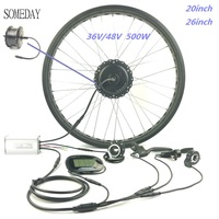 Barato Impermeable 36V 48V 500W fat ebike nieve ebike bicicleta eléctrica conversión kit 20 pulgadas 26 pulgadas