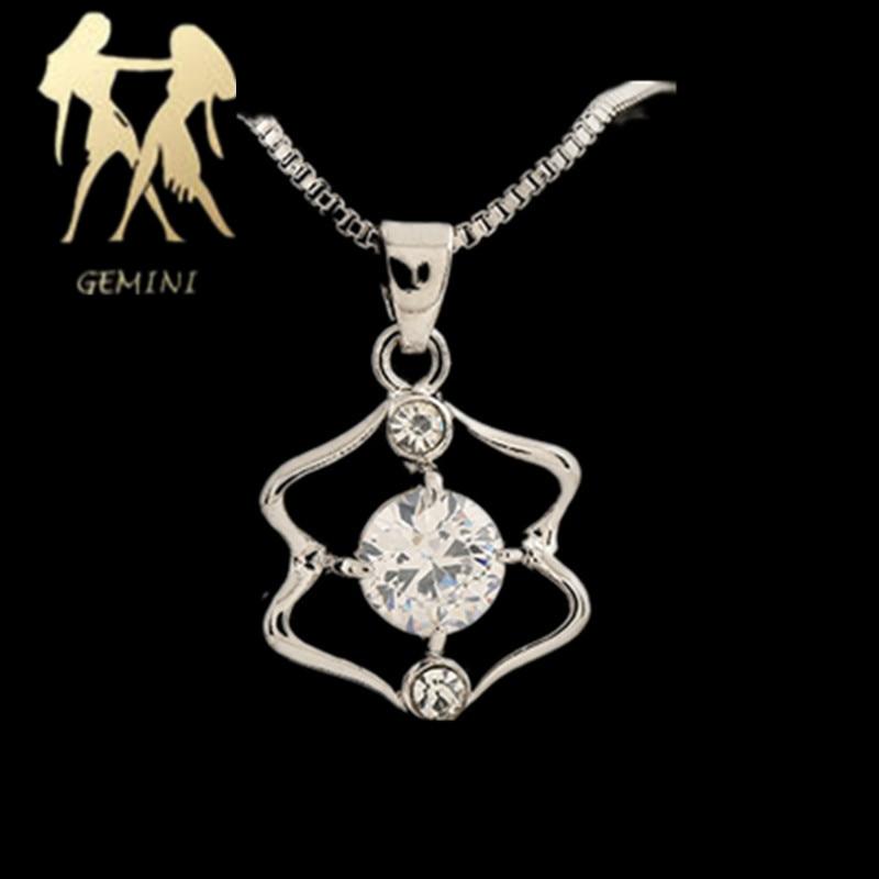 WAN JIE SHI PIN 12 konstelasi Pendant kalung Pendek inlay zircon - Perhiasan fashion - Foto 1