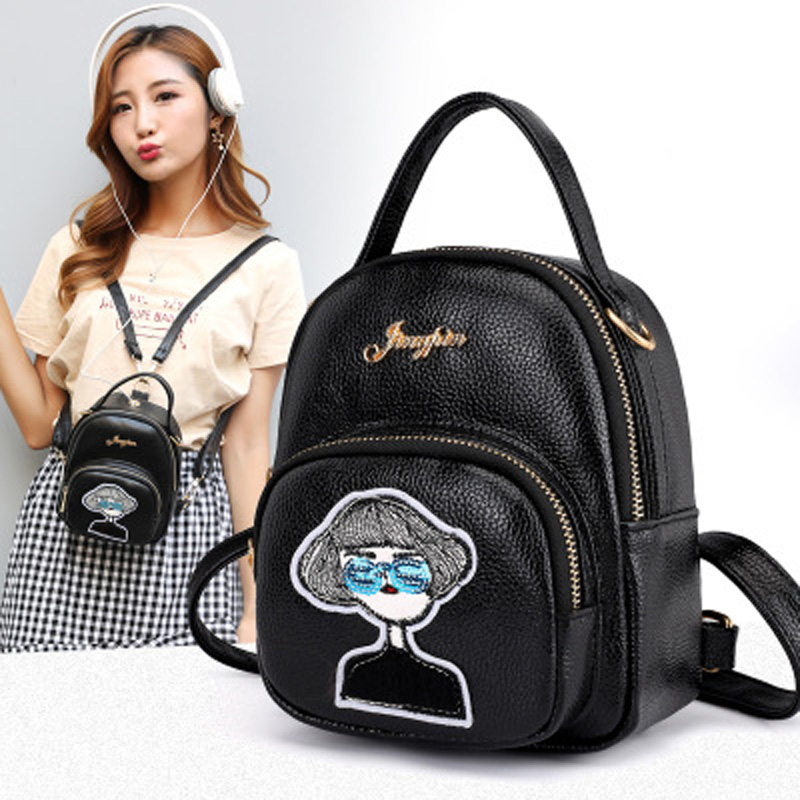 Ruiyee Fashion trend academy bag Female backpack Women 39 s shoulder bag students Soft Multi Function Pu satchel cute pendant pack in Backpacks from Luggage amp Bags