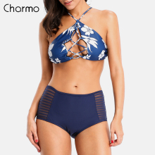 Charmo Women's Swimming Briefs  Women Solid Color Swimming Trunks Swimming Shorts Women Shorts Bikini Swim Bottom Sexy Briefs недорого