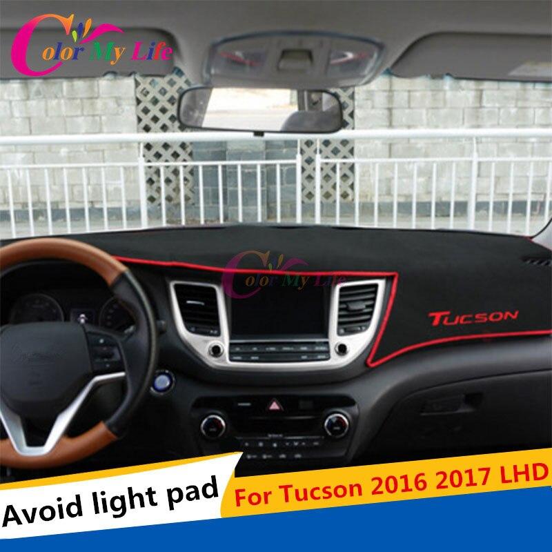 Auto Dashboard Paklāju aizsargplāksne Hyundai Tucson 3 2016 2016 LHD vasaras aksesuāru auto stils