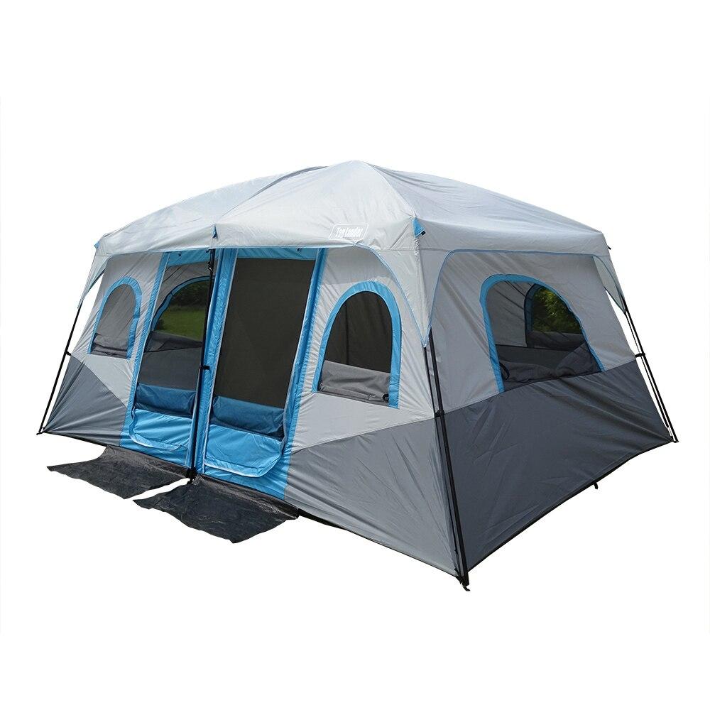 Grande tente de Camping en plein air grande famille 8 10 12 personnes tente de fête étanche cabine Camp tente chapiteau Anti UV chapiteau tentes