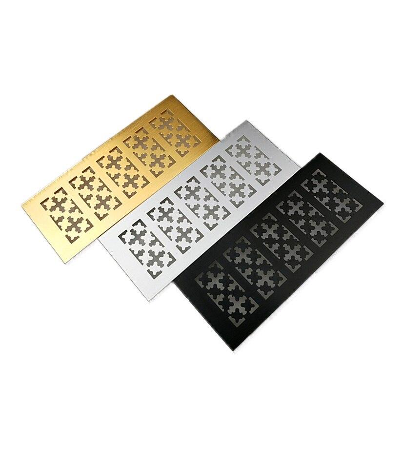 4Pcs/Lot Premintehdw 100mm Wide Rectangle Aluminum Air Vent Ventilator Grille Cover Closet Shoe Cabinet Newly Snow Designed