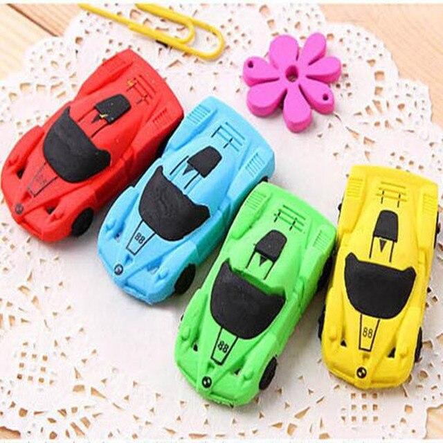 1 unids/lote novedad diseño de coche Borrador de dibujos animados de goma niños regalos
