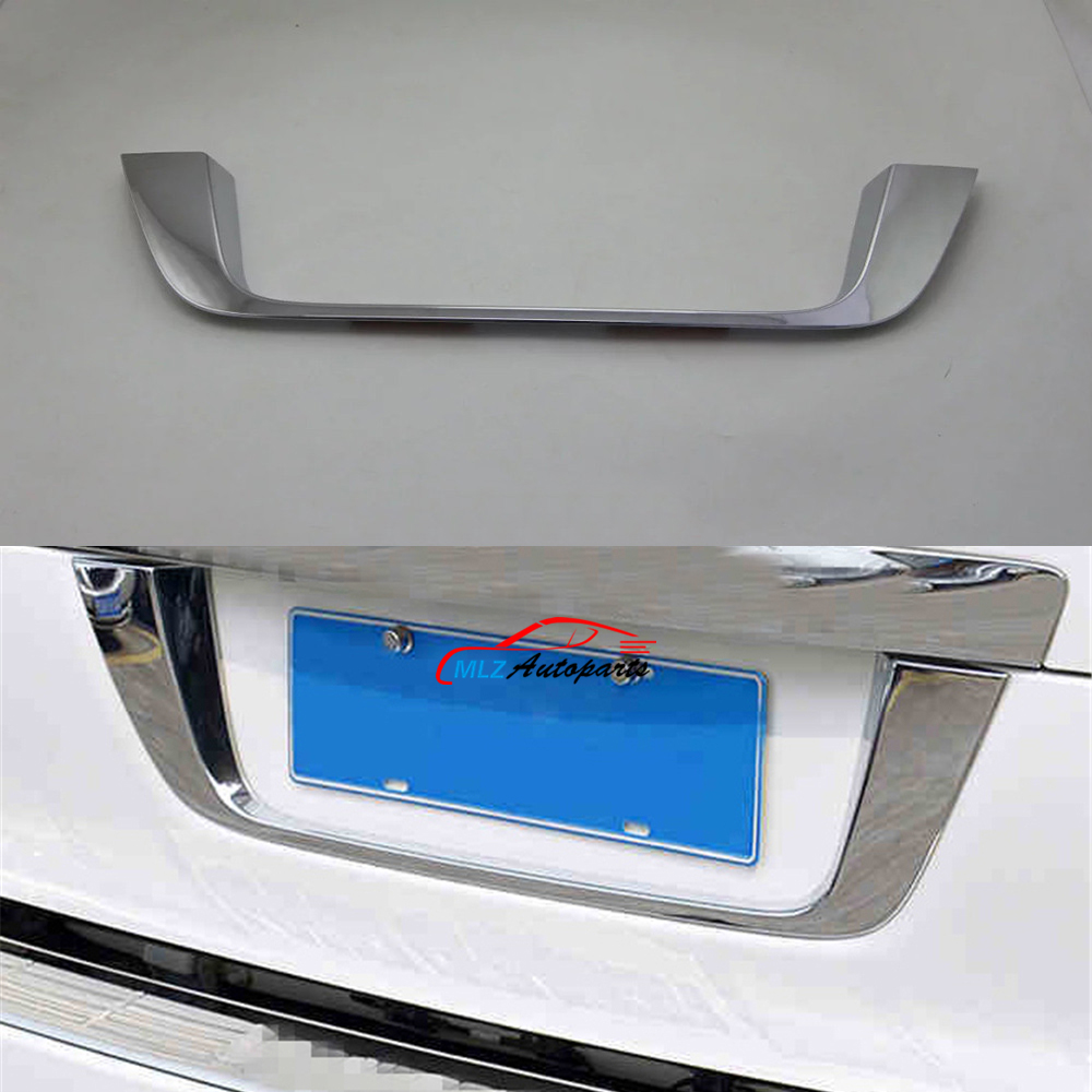 Car Rear Trunk Back License Plate Under Strip Frame Cover Trim For Toyota LC FJ 200